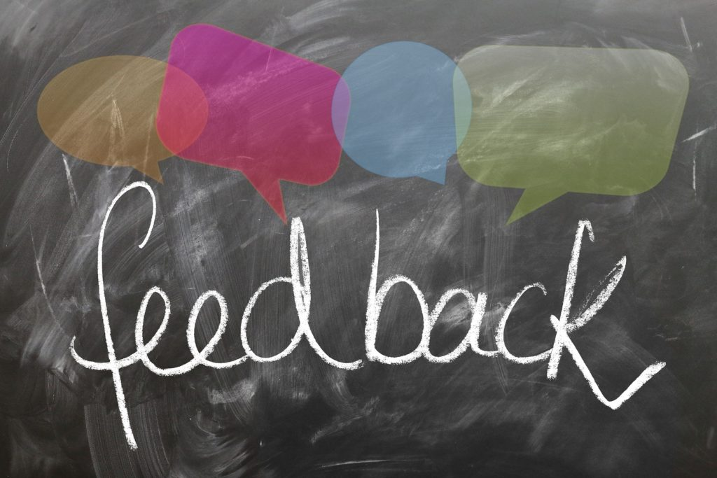 real time customer feedback graphic